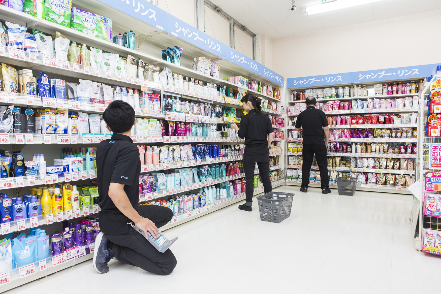 Easy work to count the number of products with a designated device at drugstores! (¥1,200/h)