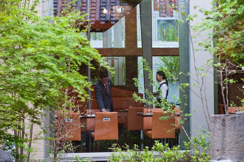 French Restaurant Hall Staff in Modern Japanese Hotel